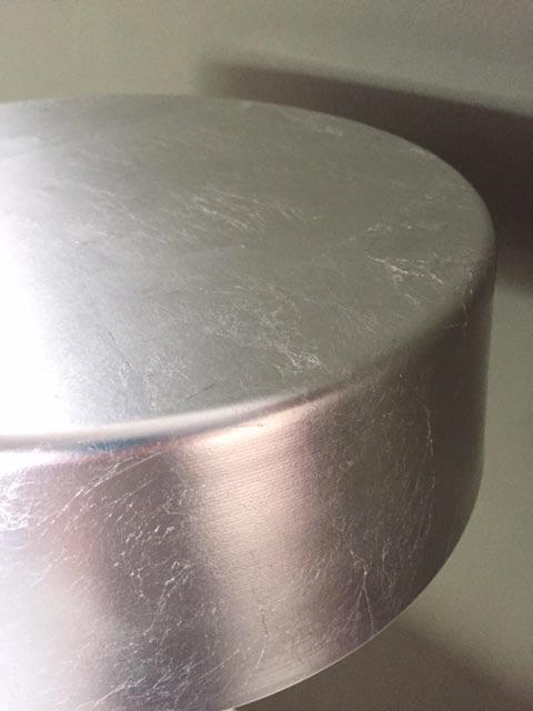 Lampada da terra argento Penta Bortoluzzi Arredamenti