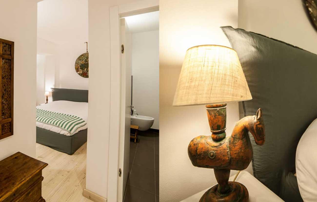 B&B Dimora al Bivacco particolare della camera con lampada esotica