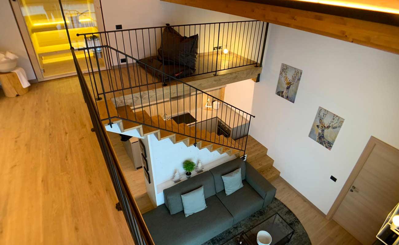 Scala e soppalco appartamento B&B