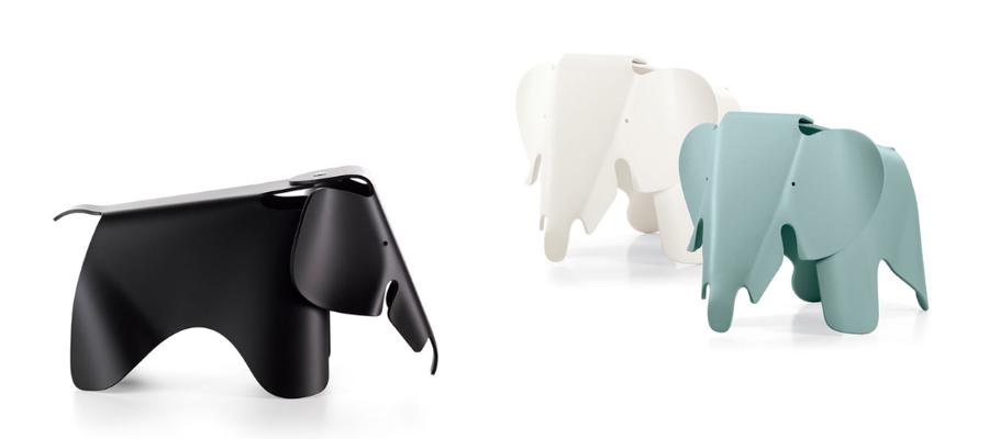 Elefante disegnato da Charles e Ray Eames, oggetto di design.