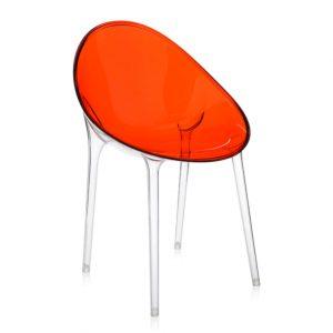Outlet Bortoluzzi Arredamenti Kartell sedia Mr. Impossible rossa